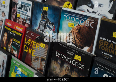 Secondhand DVD's for sale - Stock Photo