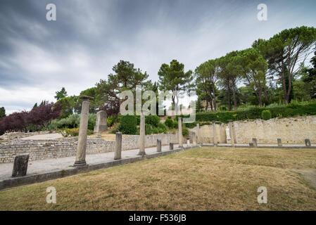 Roman Ruins, Vaison-la-Romaine, Quartier de Puymin, Provence, France, EU, Europe. - Stock Photo