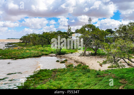 On the coast of Colonia del Sacramento, a colonial city in Uruguay. - Stock Photo