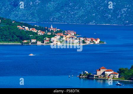 Montenegro, Adriatic coast, Bay of Kotor - Stock Photo