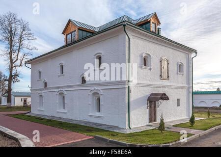 Pereslavl-Zalessky, Russia - October 29, 2015: Feodorovsky convent. Nastoyatelsky case, XVII century. - Stock Photo