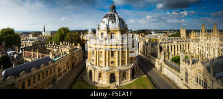 Radcliffe Camera, from St. Marys Church, Oxford, Oxfordshire, England, United Kingdom, Europe - Stock Photo