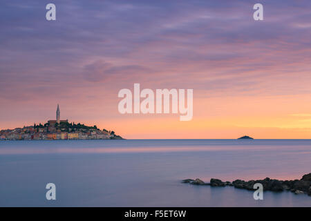 Rovinj is a city in Croatia situated on the north Adriatic Sea. Located on the western coast of the Istrian peninsula - Stock Photo