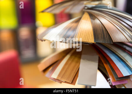 Colorful samples of decorative material - Stock Photo