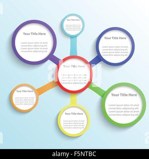Minimal infographic template background, VECTOR, EPS10 - Stock Photo
