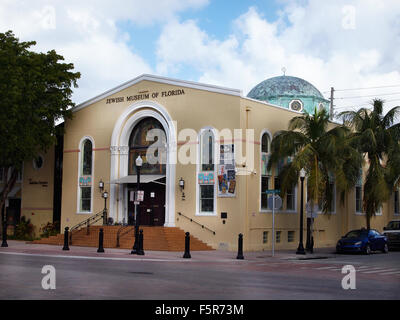 MIAMI, FLORIDA - NOVEMBER 11, 2012: The Jewish Museum of Florida, on Washington Ave. in the South Beach section - Stock Photo