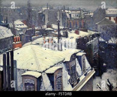 Vue de toits (Effet de neige) Rooftops (Snow Effect) 1878 Gustave Caillebotte 1848 - 1894 France French - Stock Photo