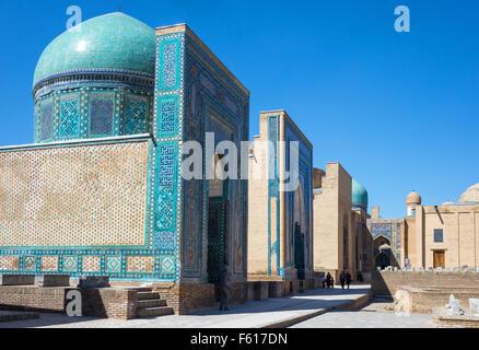 Uzbekistan, Samarkand, the Shakhi Zinda Ensemble - Stock Photo