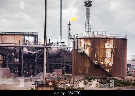 The SSI steelworks at Redcar, Teesside. The plant has now closed down. - Stock Photo
