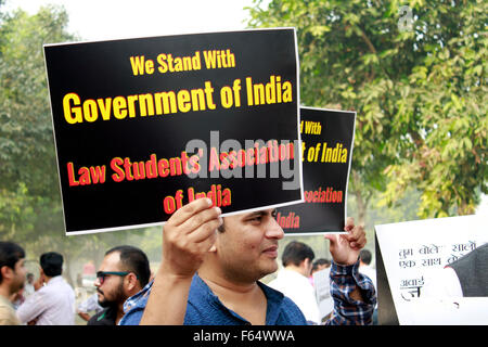 A march led by anupam kher in new delhi. The March was called March for India and India against intolerance Nov - Stock Photo