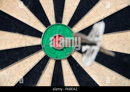 Bullseye in Darts - Stock Photo