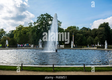 Fountain in the Sanssouci Palace in Potsdam, Germany - Stock Photo