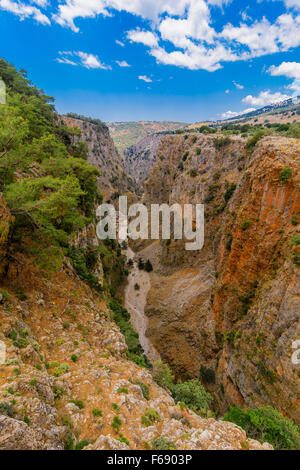 Aradena Schlucht Kreta, Aradena Gorge Crete - Stock Photo