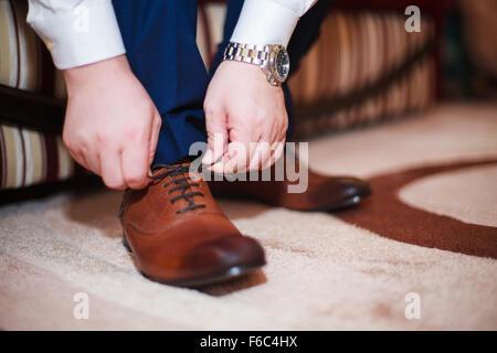 Tie shoes - Stock Photo