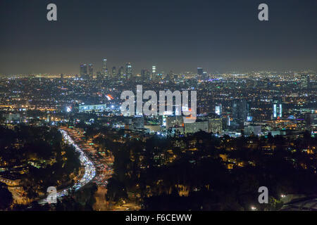 View of Downtown Los Angeles - Stock Photo