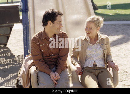 Jan 18, 2003; Hollywood, CA, USA; PAUL RUDD as Adam and GRETCHEN MOL as Jenny in the drama ''The Shape of Things'' - Stock Photo
