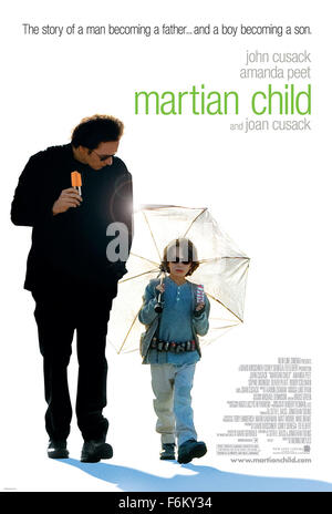 RELEASE DATE: October 12, 2007. MOVIE TITLE: Martian Child. STUDIO: New Line Cinema. PLOT: Crushed by the death - Stock Photo