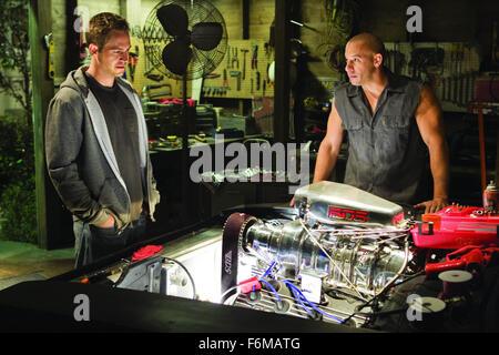 PAUL WALKER and Vin Diesel..'Fast & Furious' Film - 2009. - Stock Photo