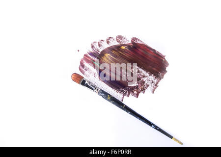 isolated brush and paints - Stock Photo