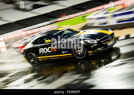 London, UK. 19th Nov, 2015. 2014 GP2 Champion Jolyon Palmer of England drives during The Race of Champions at The - Stock Photo