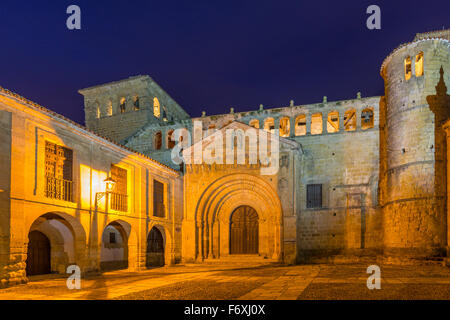 Santa Juliana cloister, Santillana del Mar, Cantabria, Spain - Stock Photo