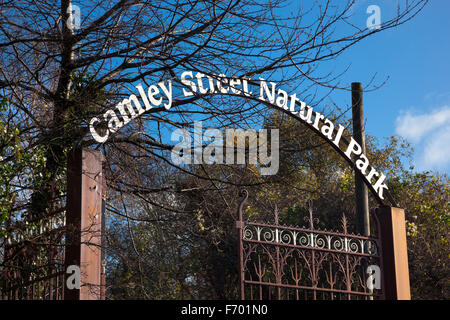 Camley Street Natural Park in King's Cross, London, England - Stock Photo