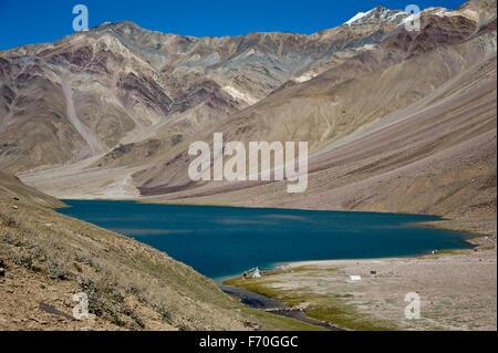 Chandratal lake, himachal pradesh, india, asia - Stock Photo