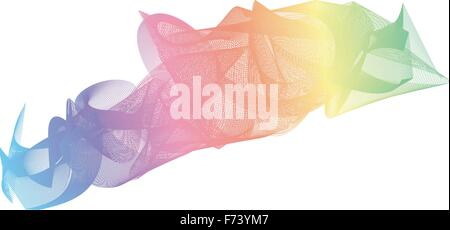 Abstract vector background design. Colorful Rainbow in white background - Stock Photo