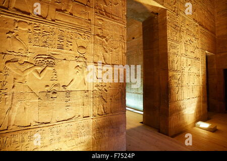 Egypt - Phile Island, The Temple of Isis, detail, UNESCO - Stock Photo