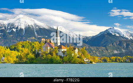 Lake Bled, Julian Alps, Slovenia - Stock Photo
