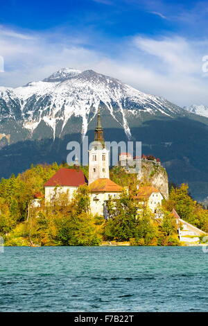 Slovenia - Lake Bled, Julian Alps - Stock Photo