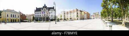 Ljubljana, old town, Slovenia - Stock Photo