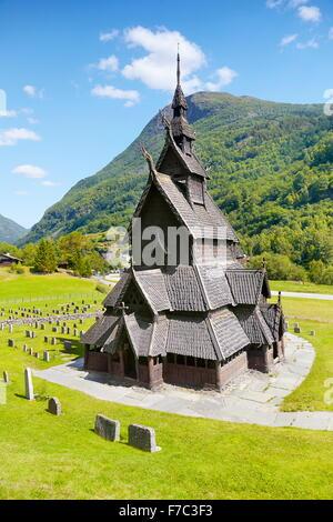 Borgund Stave Church, Sogn og Fjordane, Norway - Stock Photo