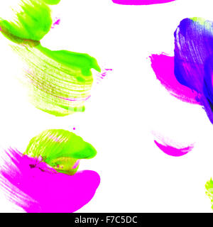 Abstract oil color. Brushstrokes on canvas closeup. Colorful palette of colors. Design elements. - Stock Photo