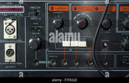 Rack mounted effects unit in the recording studio - Stock Photo