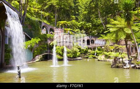 Monte Palace Tropical Garden (Japanese garden) - Monte, Madeira Island, Portugal - Stock Photo