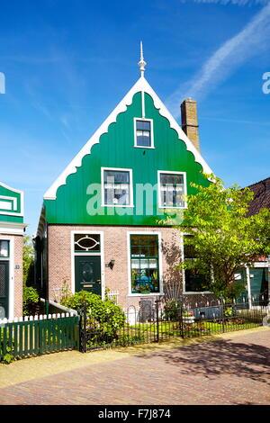 Traditional architecture in Zaanse Schans - Holland Netherlands - Stock Photo