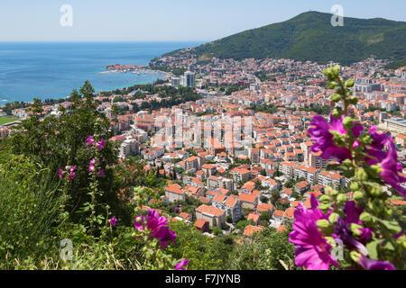 Budva, Montenegro. Overall view. - Stock Photo