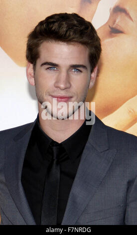 Liam Hemsworth at the World Premiere of 'The Last Song' held at the ArcLight Cinemas in Hollywood, California, United - Stock Photo