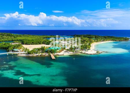 Roatan Island, Honduras. Panoramic view of the island. - Stock Photo