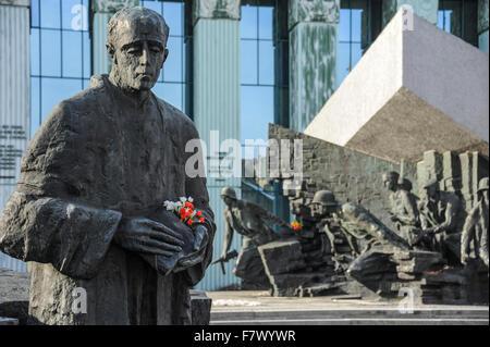 Warsaw Uprising Monument, Warsaw, Poland - Stock Photo