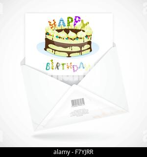Postal Envelopes With Greeting Card - Stock Photo