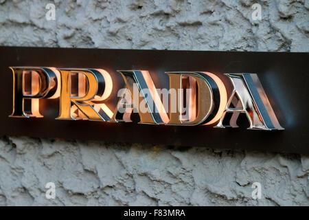 Markennamen: 'Prada', Berlin. - Stock Photo
