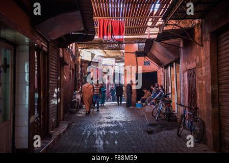 Street scene in Marrakesh - Stock Photo