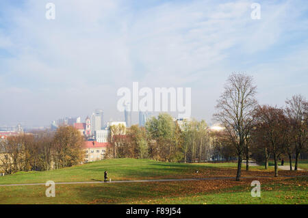 Overview of Vilnius from Tauras Hill, Vilnius, Lithuania, Europe - Stock Photo