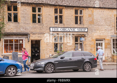 The Organic shop store at Stow-on-the-Wold , Cheltenham , Gloucestershire , England , Britain , Uk - Stock Photo