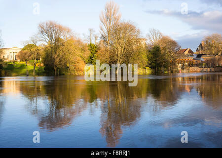 Reflections in the River Ouse near Lendal Bridge (2) , City of York, North Yorkshire, England, UK - Stock Photo