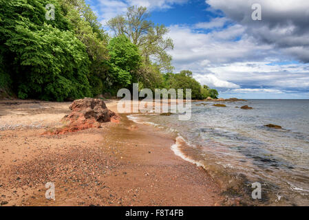 Rosemarkie beach on a glorious summer's afternoon - Stock Photo
