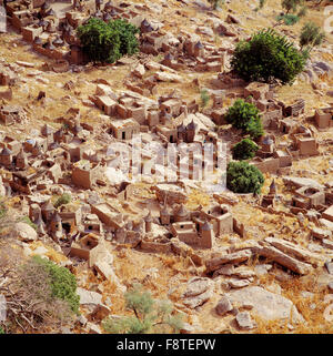 View over Dogon village Banani, Mali. - Stock Photo