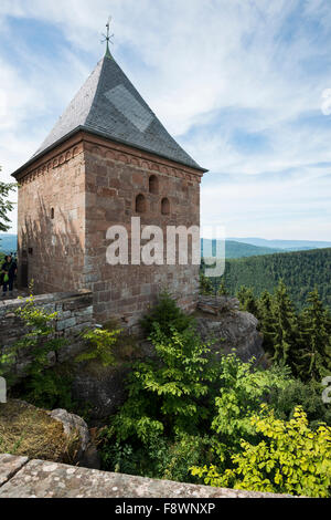 Monastery Mont Sainte-Odile, Ottrott, Bas-Rhin, Alsace, France - Stock Photo